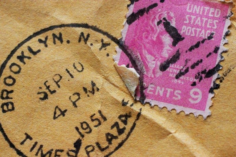 Vintage Postage. Closeup of a vintage postmark stock images