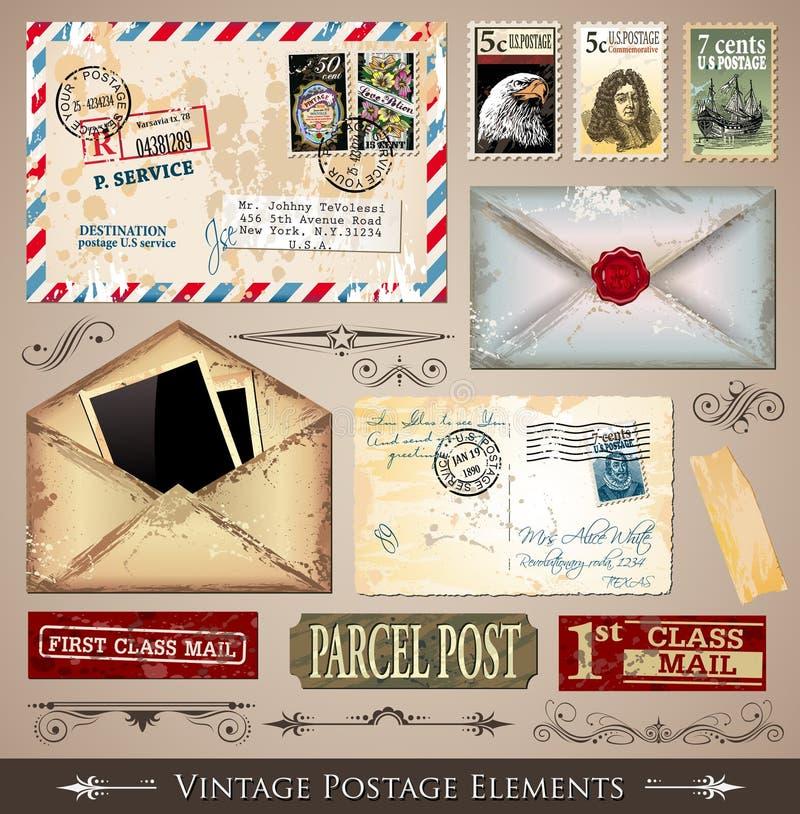 Download Vintage Postage Design Elements Stock Vector - Image: 19611716
