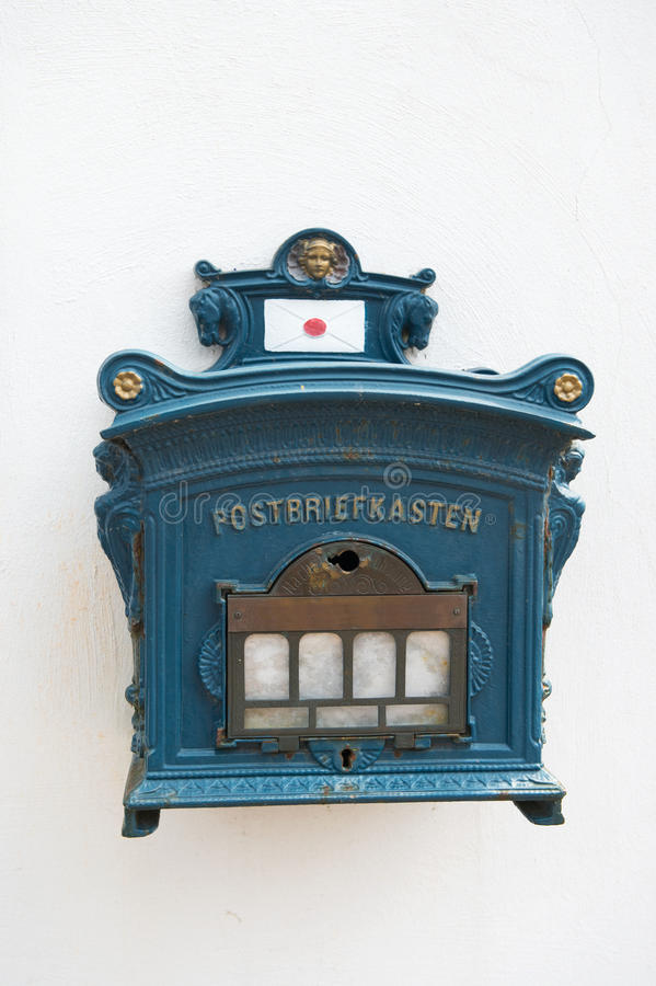 Vintage Postbox Germany Stock Photo
