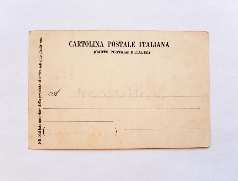 Vintage postcard royalty free stock photography