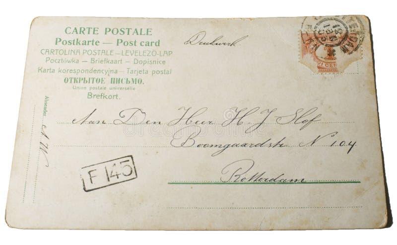 Vintage postcard 1881 stock photo
