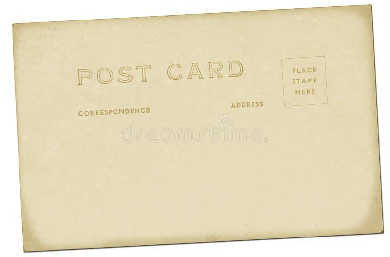 Vintage Postcard. A nice vintage postcard backing stock photography