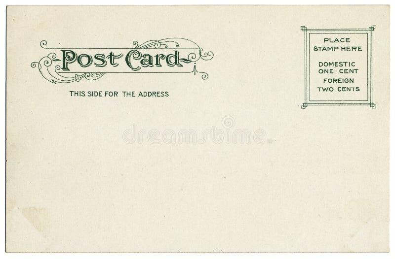 Vintage Postcard Back royalty free stock images