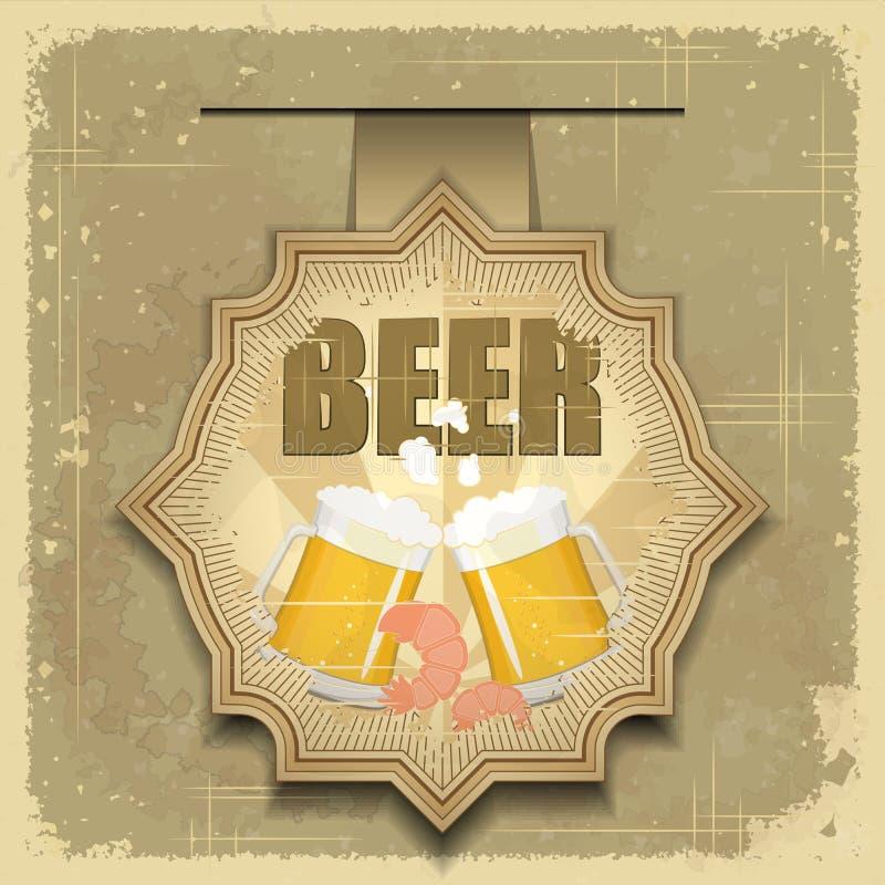 Download Vintage Postcard, Cover Menu - Beer, Beer Snack Stock Vector - Image: 24024658