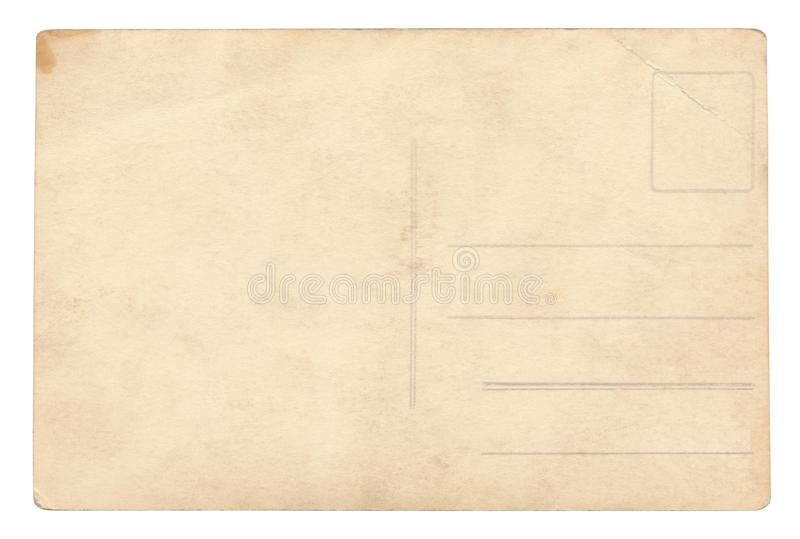 Vintage Postcard - isolated royalty free stock image