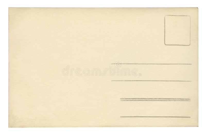 Vintage Postcard - isolated royalty free illustration