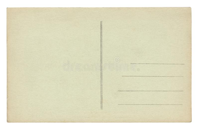 Vintage Postcard isolated on white stock illustration