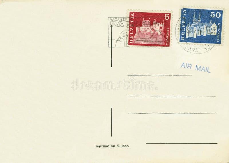 Vintage postcard switzerland royalty free stock photo