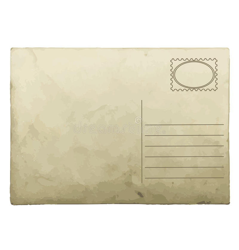 Vintage Postcard Template. Stock Photo - Image: 36888760