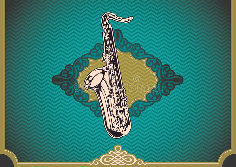 Download Vintage Poster With Saxophone. Royalty Free Stock Photo - Image: 22449175