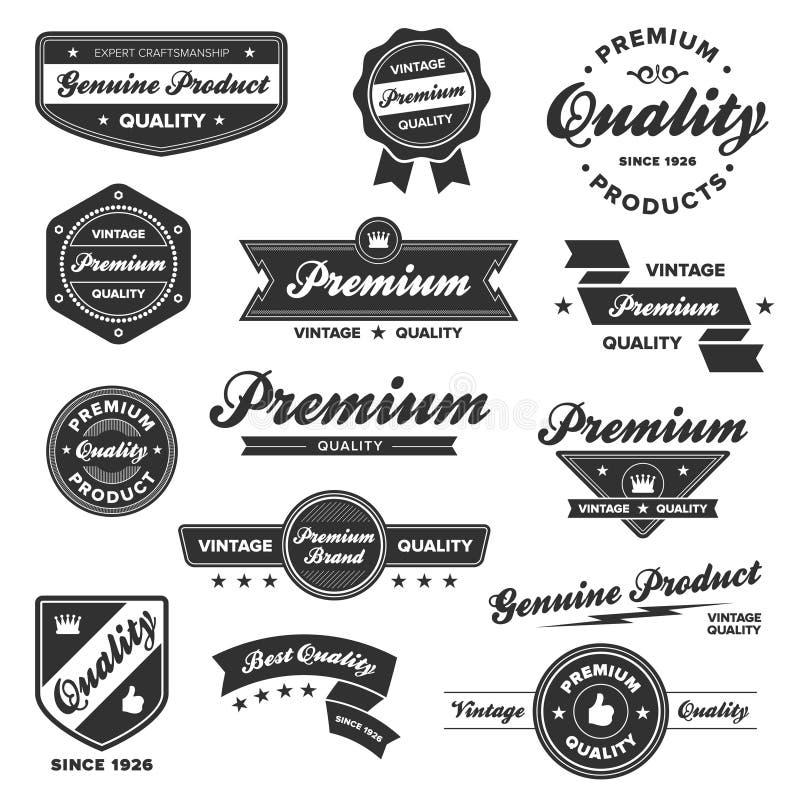 Download Vintage premium badges stock vector. Image of dark, label - 21765624