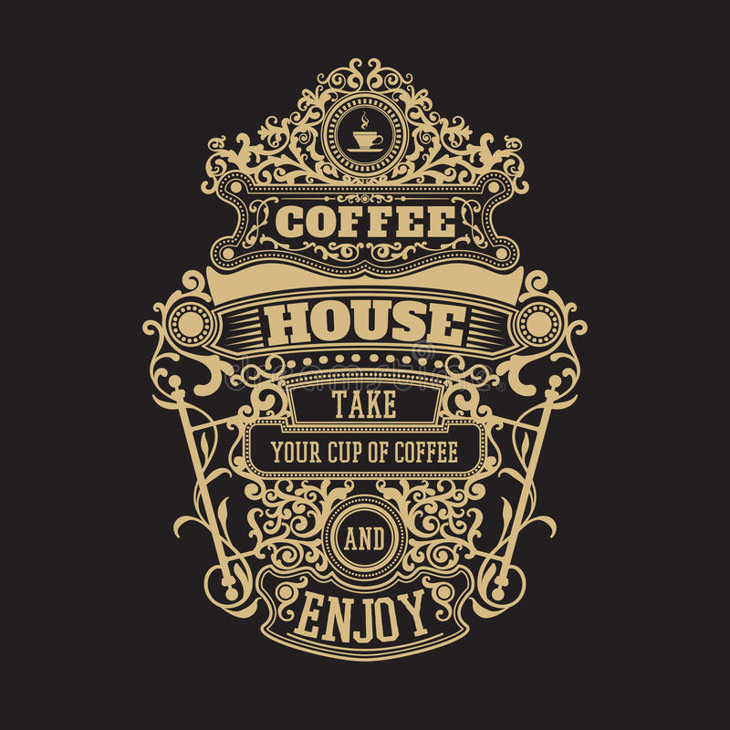 Vintage premium coffee badge stock illustration
