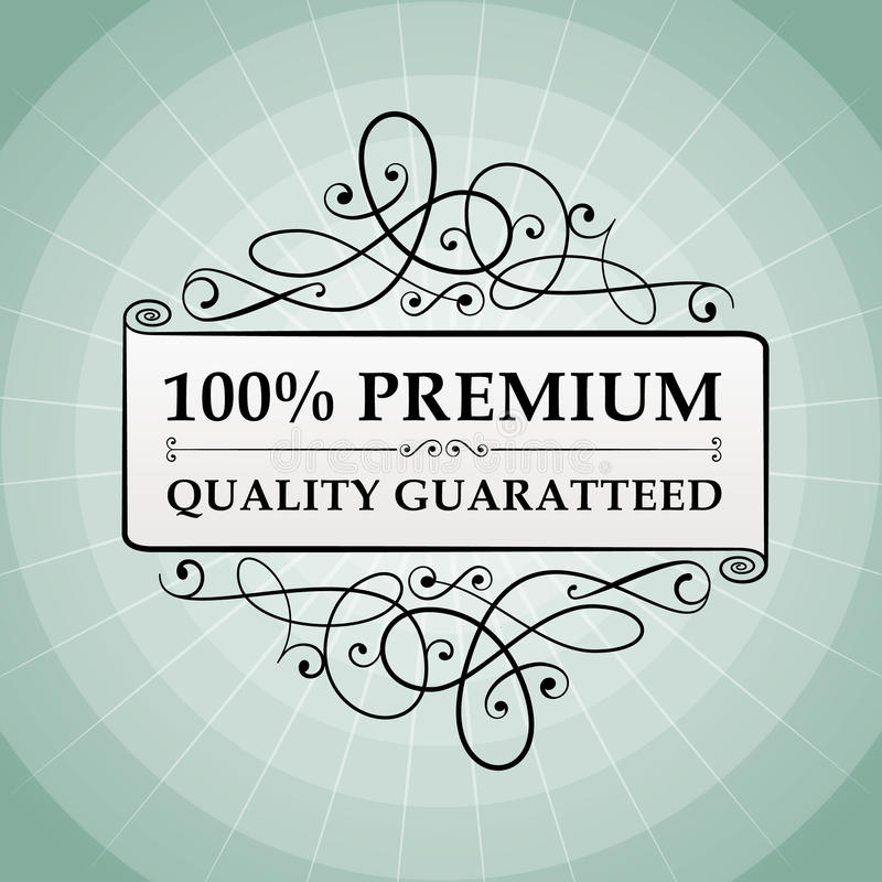 Download Vintage 100% Premium Quality Guaranteed Label Stock Vector - Illustration: 31682074