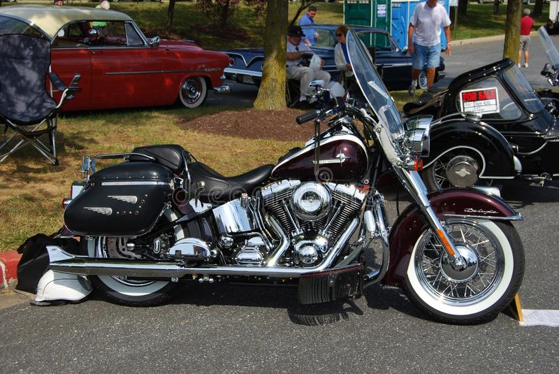 Vintage preto Harley Davidson de luxe imagem de stock