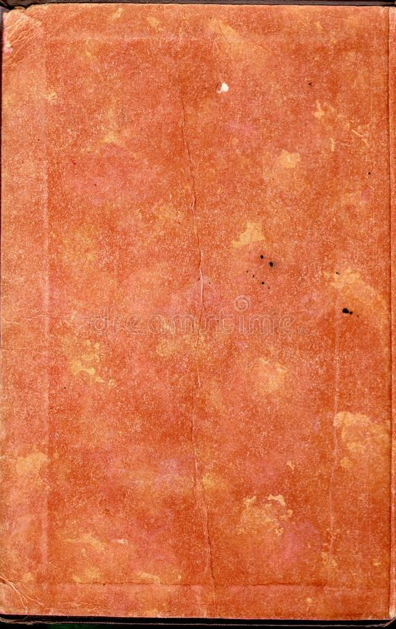 Worn Book Cover Texture : Vintage print book end paper stock image of cover