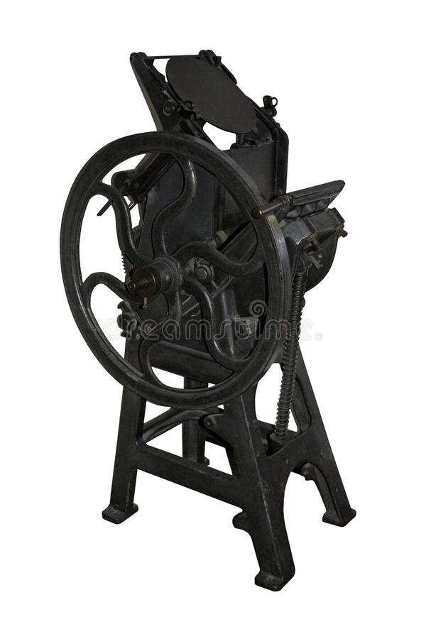 Vintage Printing Press Stock Photos
