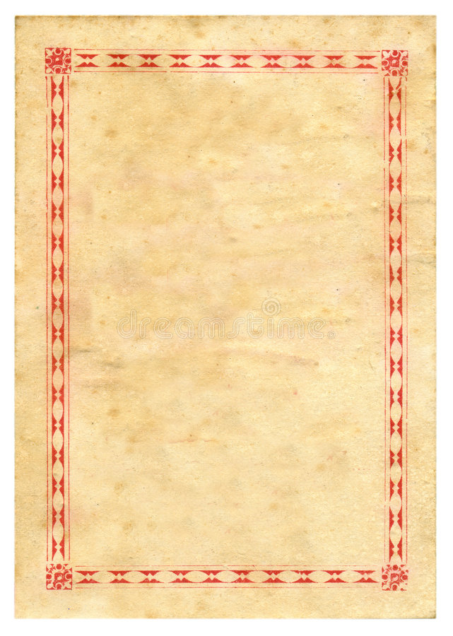 Free Vintage Prize Certificate Paper Texture Background Stock Image - 4036201