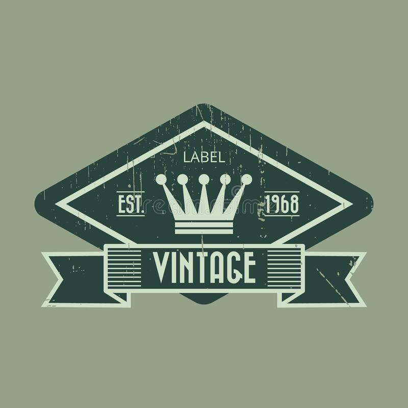 Bee Farm Vintage Isolated Label:  Vintage Product Label Stock Vector. Illustration Of Style