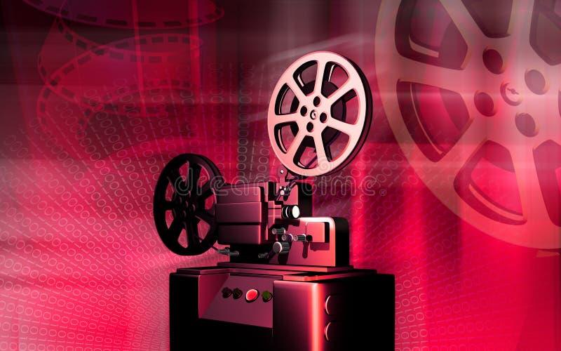 Vintage projector. Digital illustration of a vintage projector royalty free illustration