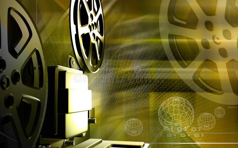 Vintage projector. Digital illustration of a vintage projector stock illustration