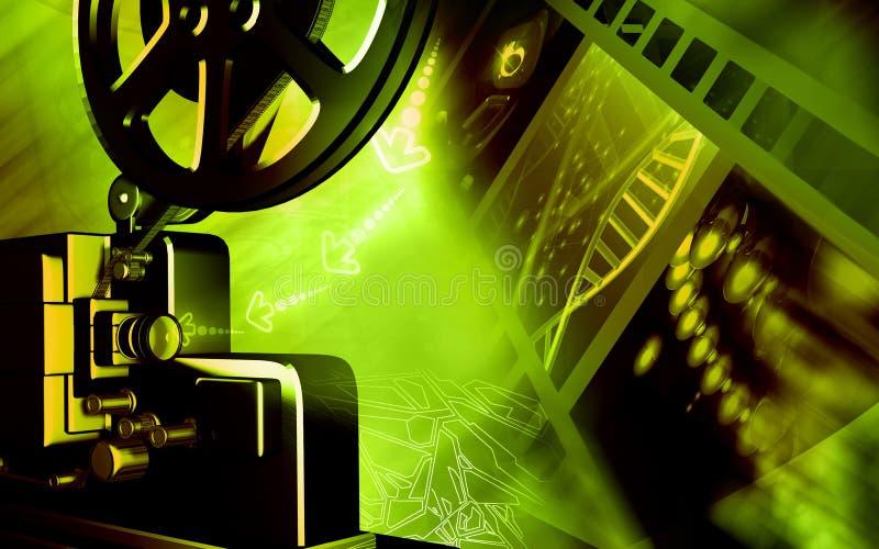 Vintage projector. Digital illustration of a vintage projector vector illustration