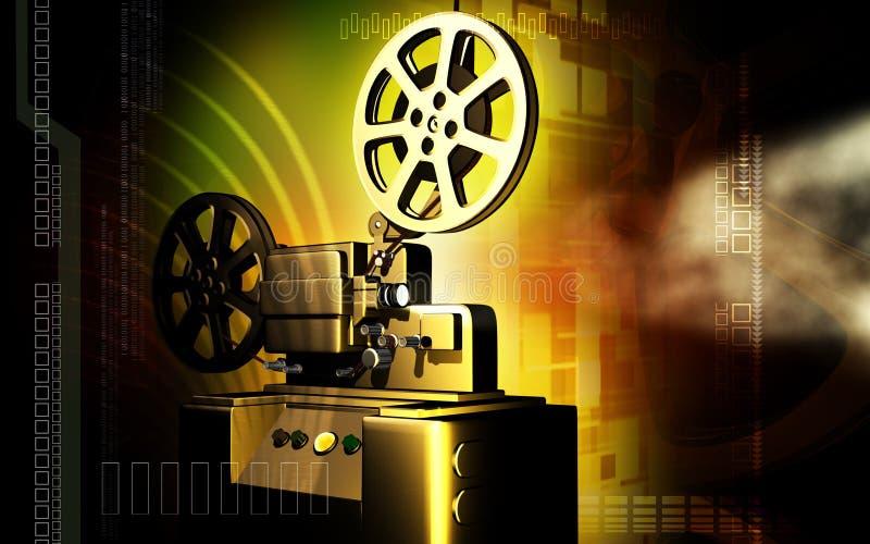 Vintage projector. Digital illustration of vintage projector stock illustration