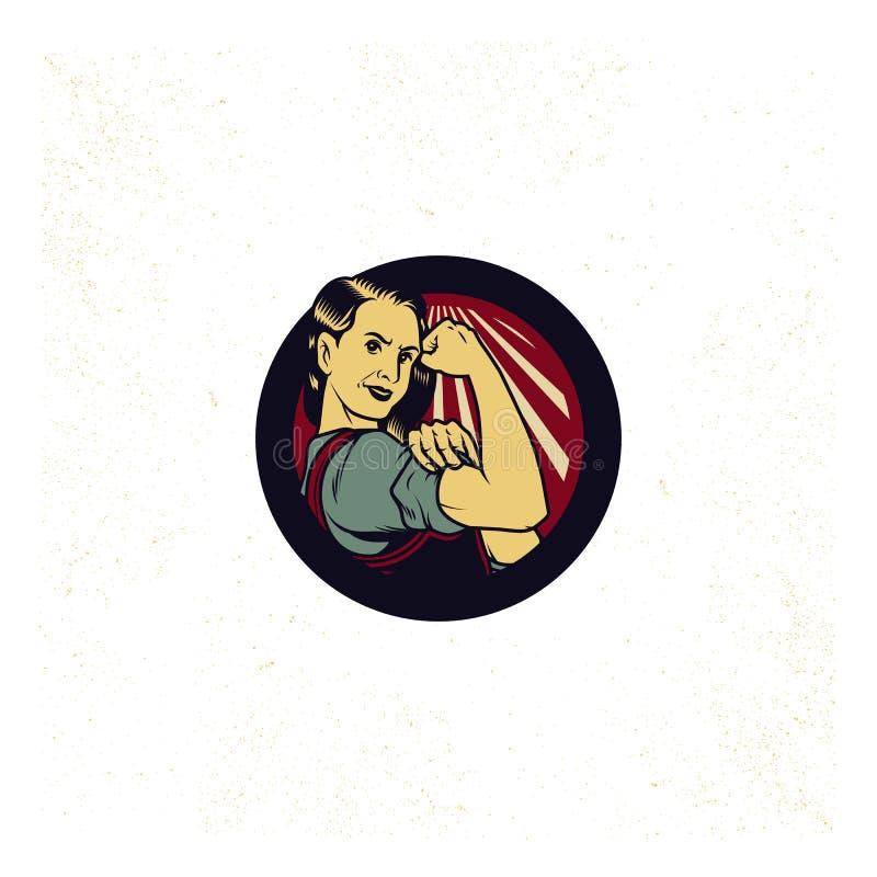 Vintage Propaganda Logo royalty free stock photos