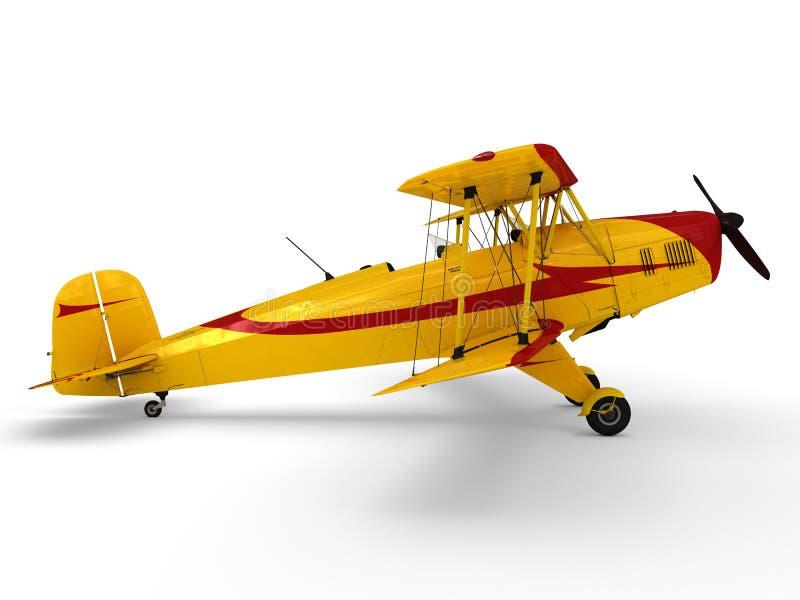 Download Vintage propeller biplane stock illustration. Illustration of aerobatic - 32362256