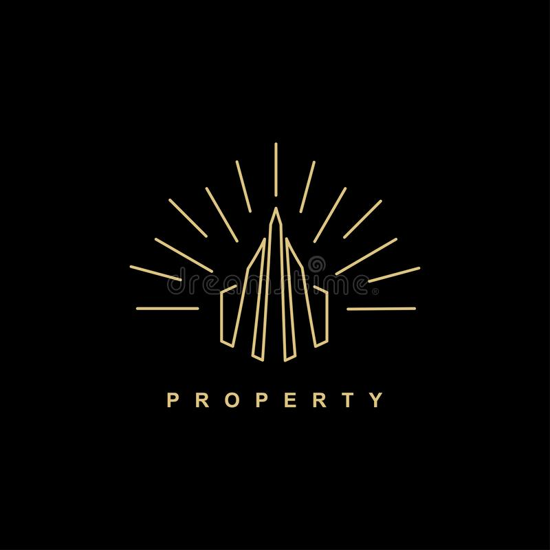 Vintage property building logo symbol icon design vector illustration royalty free illustration