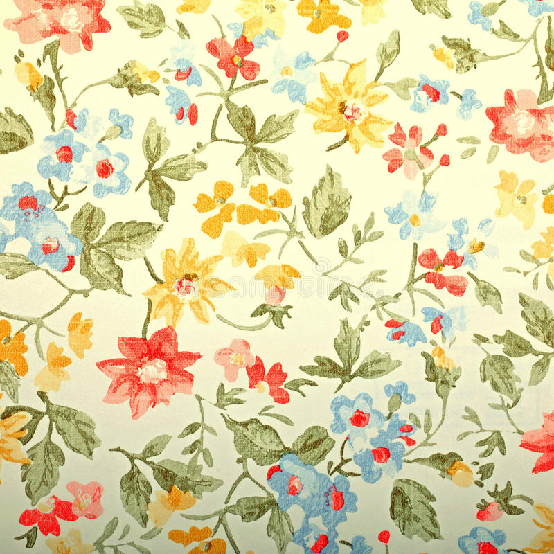 Vintage provance wallpaper with floral pattern. Square toned image, instagram effect stock image