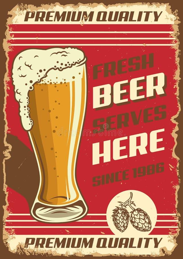 Download Vintage Pub Poster Design Stock Vector Illustration Of Beer