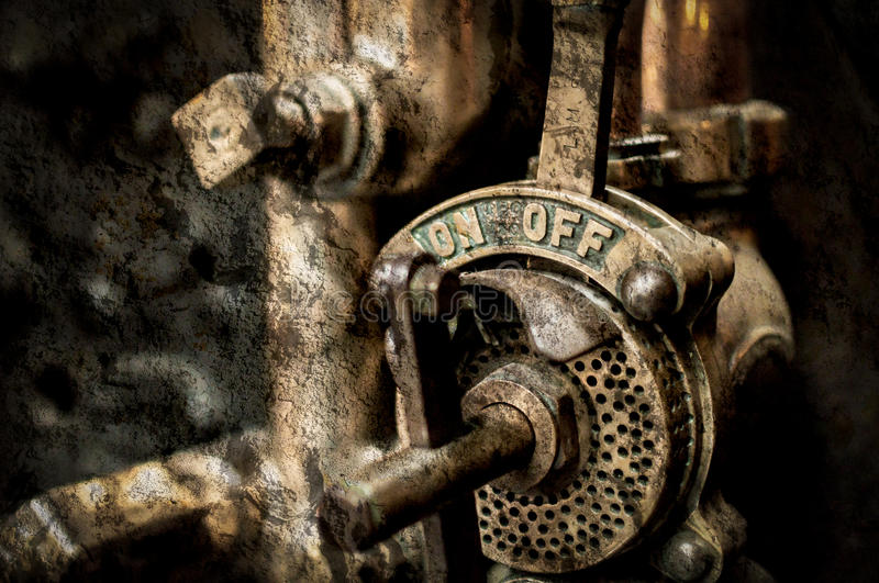 Vintage Pull Lever royalty free stock images