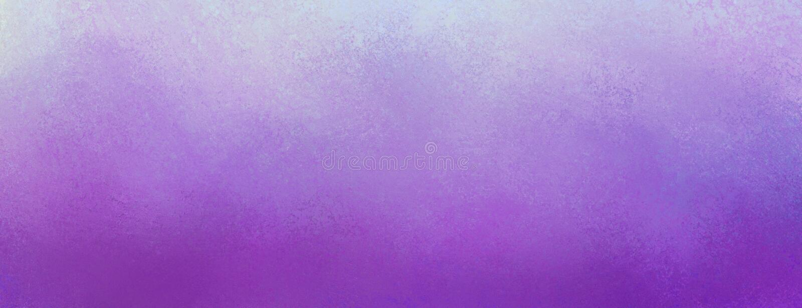 Vintage purple background with distressed light purple texture and pastel border design stock images