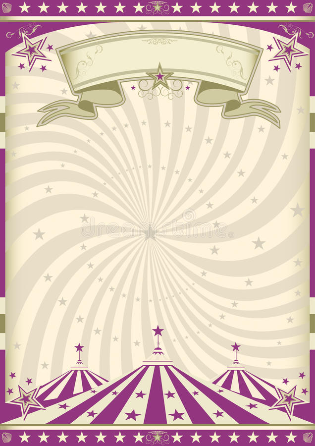 Download Vintage purple circus stock vector. Image of leaflet - 26049512