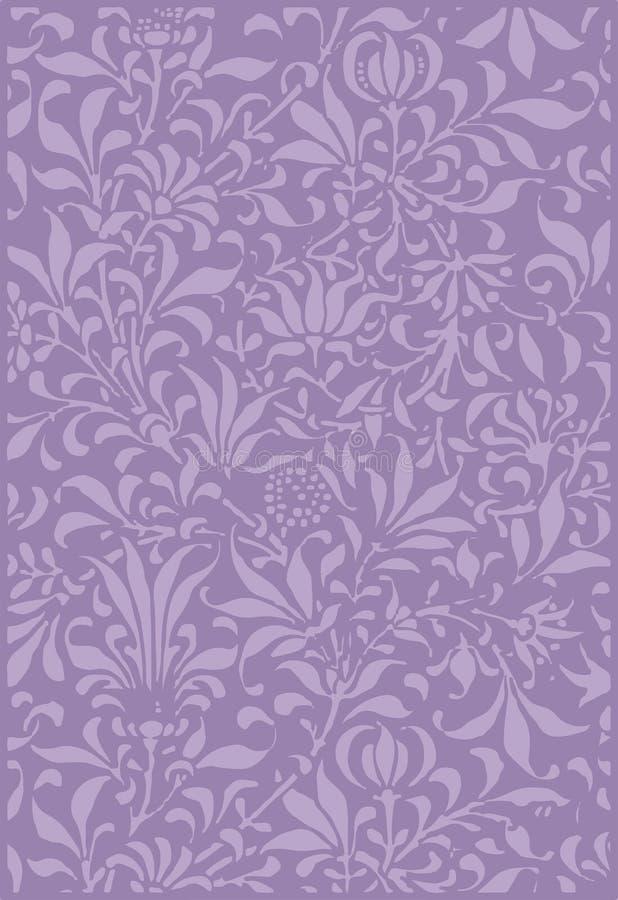 Download Vintage Purple Plant Scrapbook Background Stock Illustration