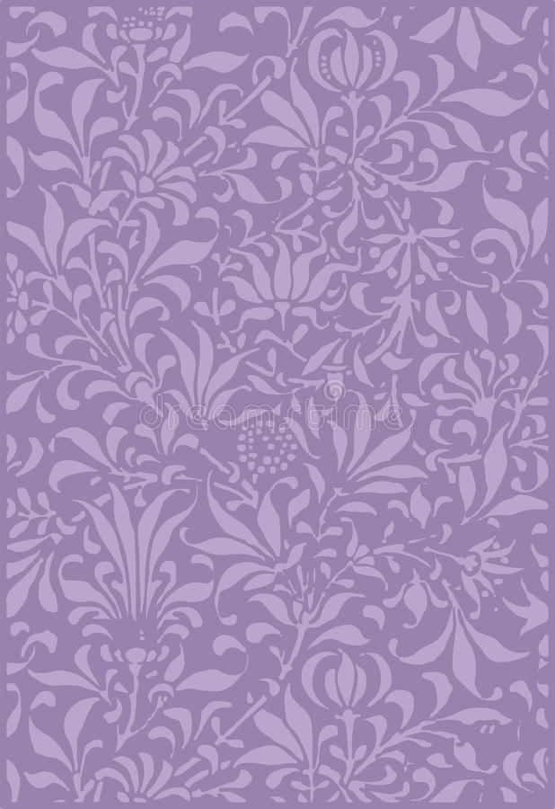Vintage Purple Plant Scrapbook Background Stock Illustration Illustration Of Craft Decorated