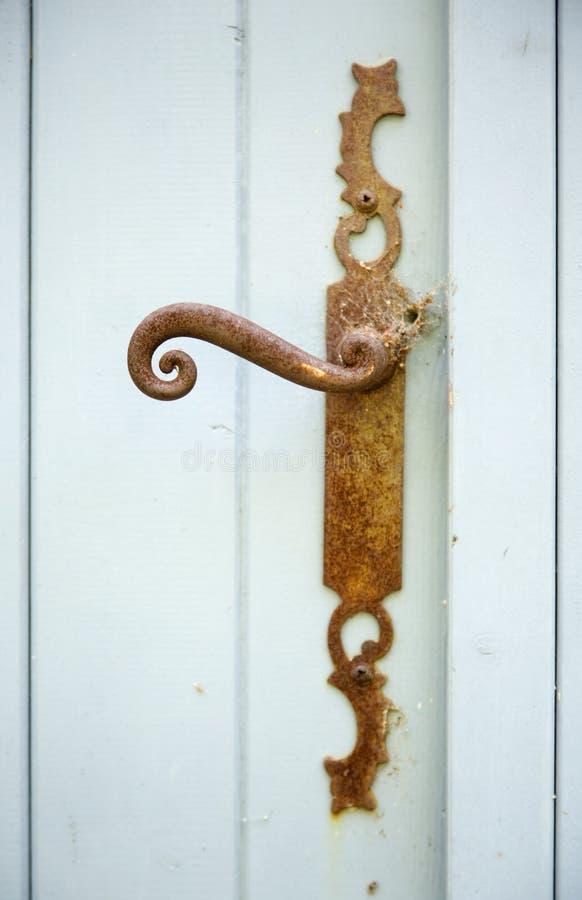 Vintage, puxador da porta oxidado imagens de stock
