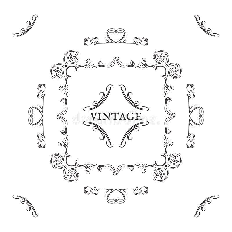 Vintage, rétro style Éléments de conception de vecteur et lettrage, blac images libres de droits