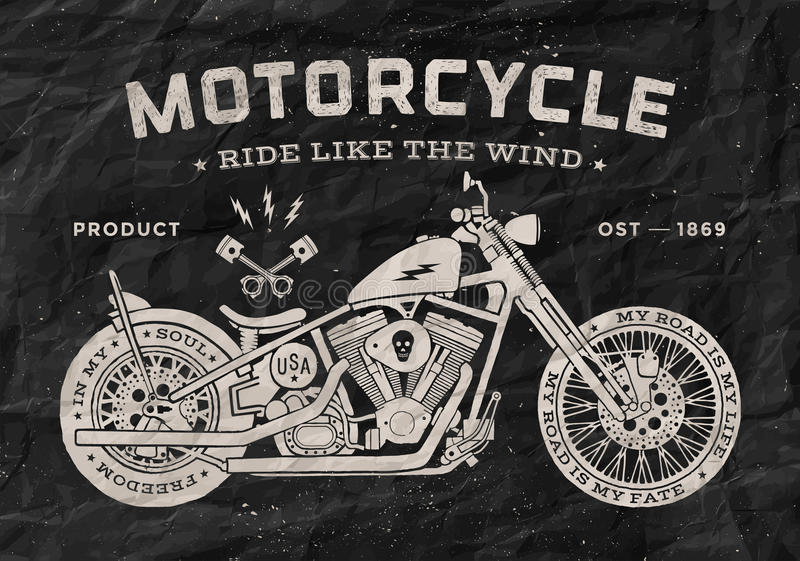 Download vintage race motorcycle old school style black stock vector illustration of racer