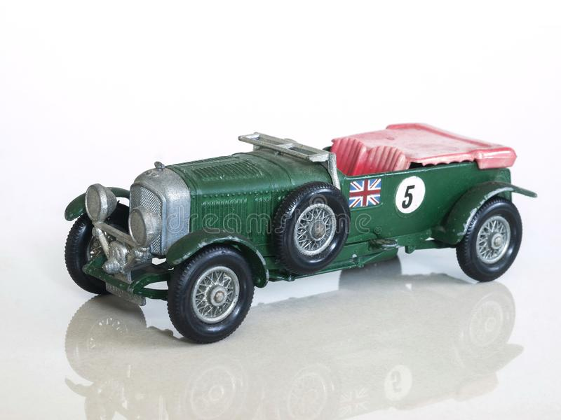 Download Vintage Racing Car Toy / Bentley 4½ Litre British Sports Car Toy  Model Stock Photo