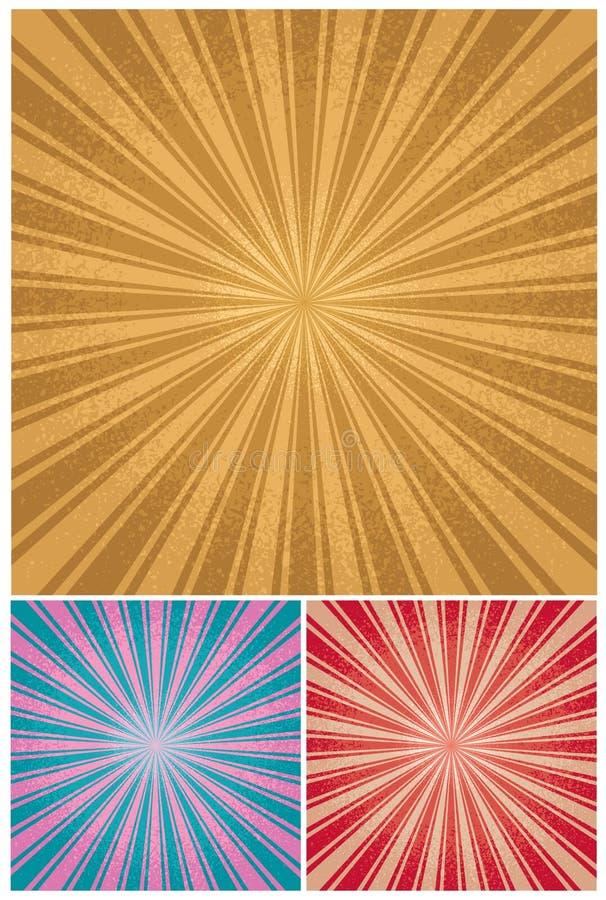 Free Vintage Radial Background Royalty Free Stock Photos - 21102458