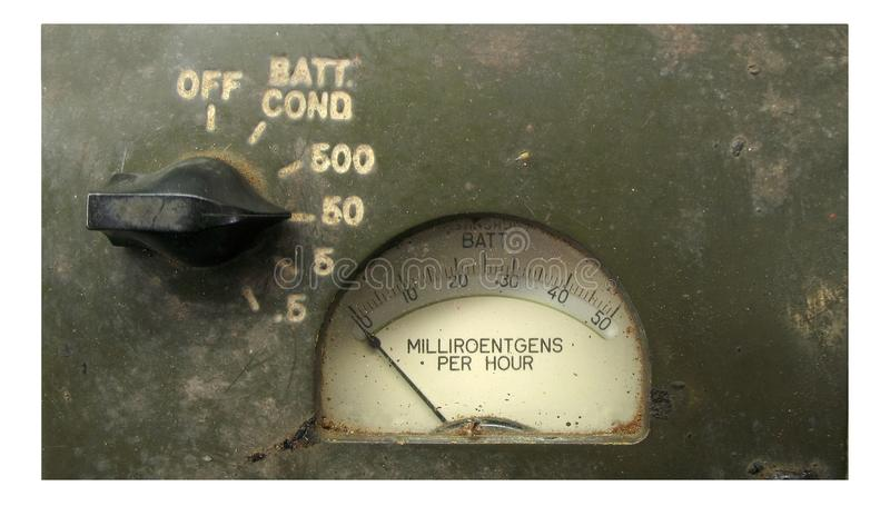 Vintage Radiation Meter royalty free stock photography