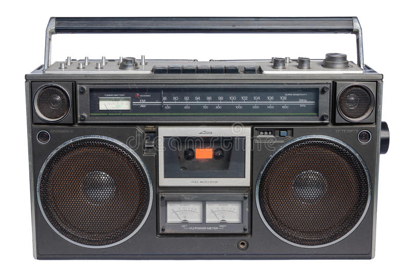 Download Vintage radio cassette stock photo. Image of oldschool - 28707816