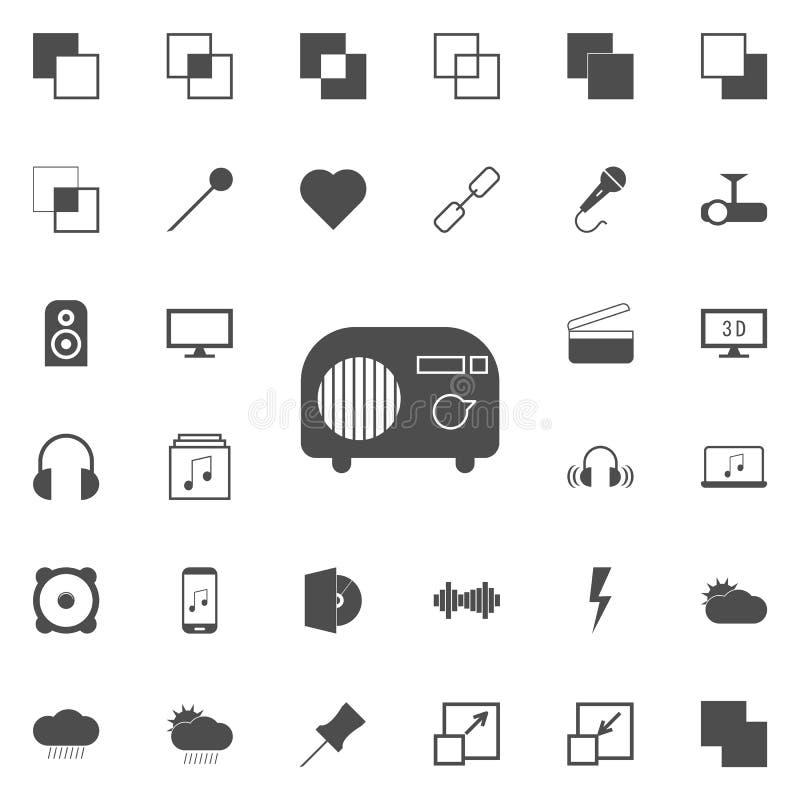 vintage radio icon. web icons universal set for web and mobile royalty free illustration