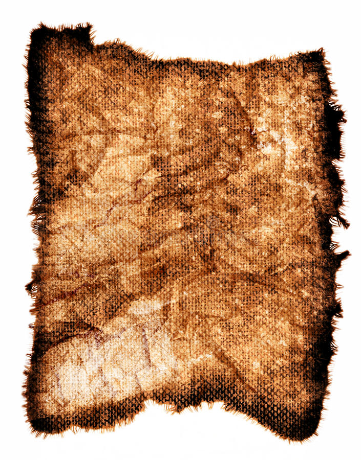 Vintage Rag. This is a scan of a very old and worn out rag royalty free illustration