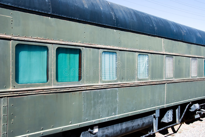 Vintage railcar royalty free stock image