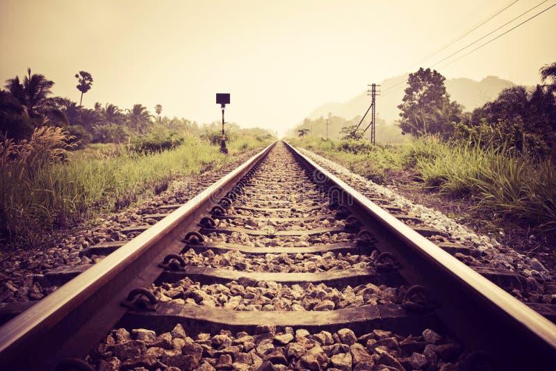 Vintage railroad stock image