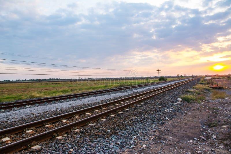 Vintage railroad tracks royalty free stock photography