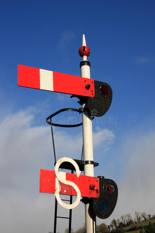 Download Vintage railway signal stock image. Image of sign, danger - 28545141