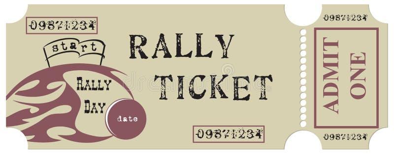 Vintage Rally Ticket royalty free illustration